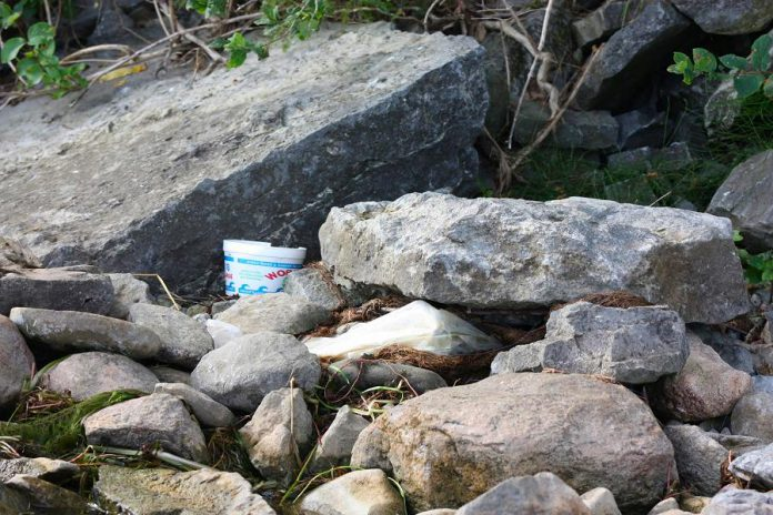 Peterborough County is taking measures to curb littering by anglers on the James A. Gifford Causeway. Local realtor Brad Sinclair first brought the issue to the public's attention in August 2017 and has continued to advocate for a resolution. (Photo: Brad Sinclair)