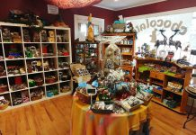 Located at 11 Queen Street in Lakefield, The Chocolate Rabbit specializes in high-quality handcrafted truffles and chocolate specialties, as well as seasonal gifts, delightful wedding and business packages, hot chocolate, tea, coffee, tea accessories, jams, and much more. (Photo: Paula Kehoe / kawarthaNOW.com)