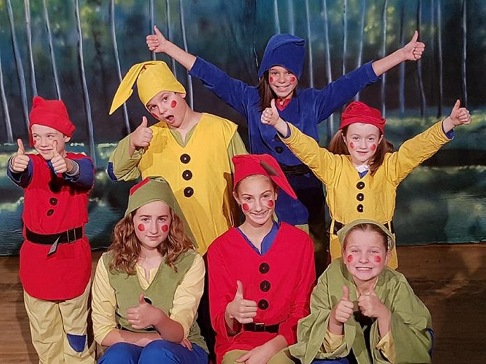 "The Globus production of ""Snow White and the Seven Dwarfs"" includes 30 children between the ages of six and 13 split up into two different cast of characters that perform with the adult actors.   (Photo: Sarah Quick)"