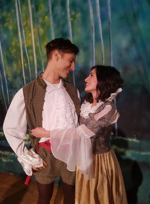 "Katherine Cappellacci stars as Snow White and Ceasare Scarpone stars as Prince Roger in the Globus Theatre production of ""Snow White and the Seven Dwarfs"". (Photo: Sarah Quick)"