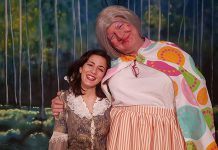 "Toronto-based actor Katherine Cappellacci performs as Snow White with Globus artistic director James Barrett as Dame Wobbly Bothem in ""Snow White and the Seven Dwarfs"", a traditional British pantomine for the entire family at Globus Theatre at Lakeview Arts Barn in Bobcaygeon with seven performances from December 9 to 17. (Photo: Sarah Quick)"