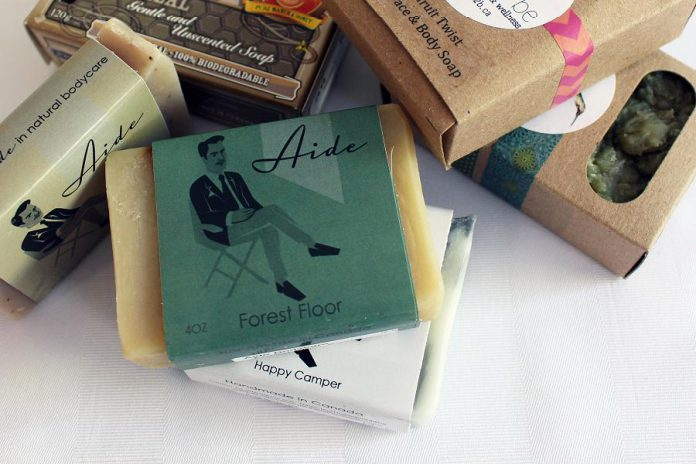 The GreenUP Store carries a variety of natural soaps in several scents, including from local producers Free to Be, Aide Bodycare, and Buncha Farmers.