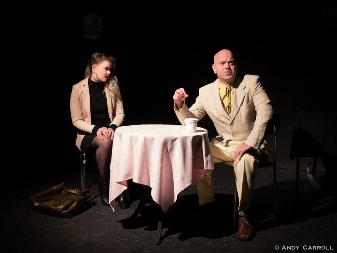 Emily Eakins and Dan Smith in 'Heads Rolling and Rolling'.  (Photo: Andy Carroll)