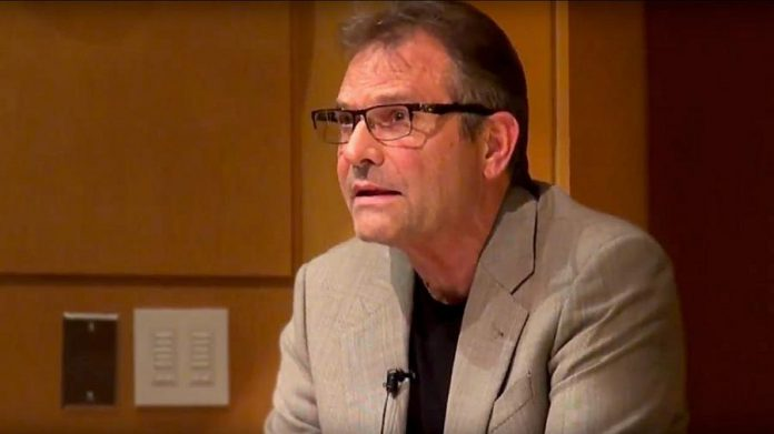 """""""Hellhound on my Trail"""" playwright and author Denis Johnson during a 2016 reading at Cornell University. Known for writing about desperate, down-on-their-luck characters, Johnson himself battled with alcohol and drug addiction as a young man. He died of cancer in May 2017 at the age of 67. (Photo: Cornell University)"""