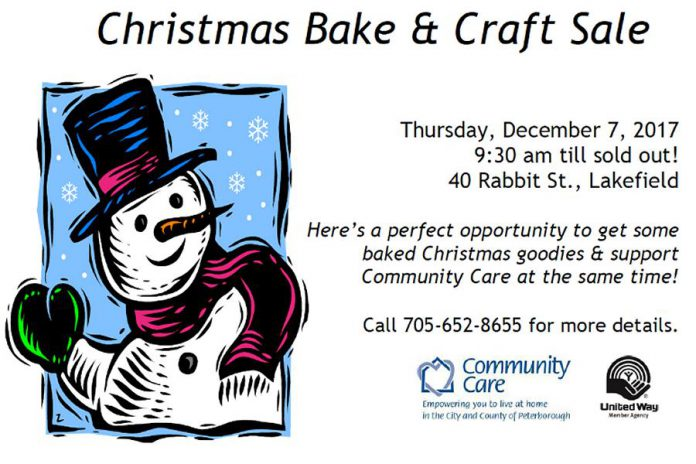 Community Care bake sale