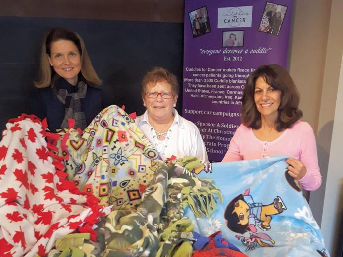 "Some of the Cuddle blankets made by volunteers with the ""Kids at Christmas"" campaign. (Photo: Cuddles for Cancer)"