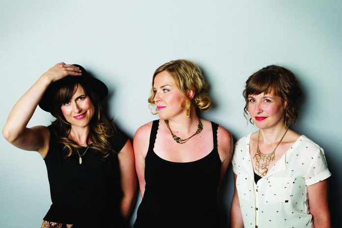 Good Lovelies (Kerri Ough, Sue Passmore, and Caroline Brooks) are performing a Christmas concert at Trinity United Church om Cobourg on Sunday, December 17th. The evening performance is sold out but tickets are still available for the matinee show. (Publicity photo)