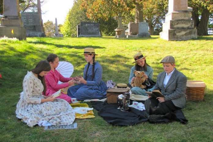 The Planet 12 company at the Little Lake Cemetary Twilight Pageant in September. (Photo: Luc Matteau)