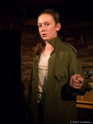 "Abbie Dale of Planet 12 Productions performing in ""Incident On Gun Mountain"". (Photo: Andy Carroll)"
