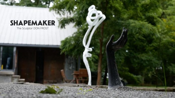 "Two of Don Frost's pieces in a screenshot from ""ShapeMaker:  The Sculptor Don Frost"". (Photo: Michael Morritt)"