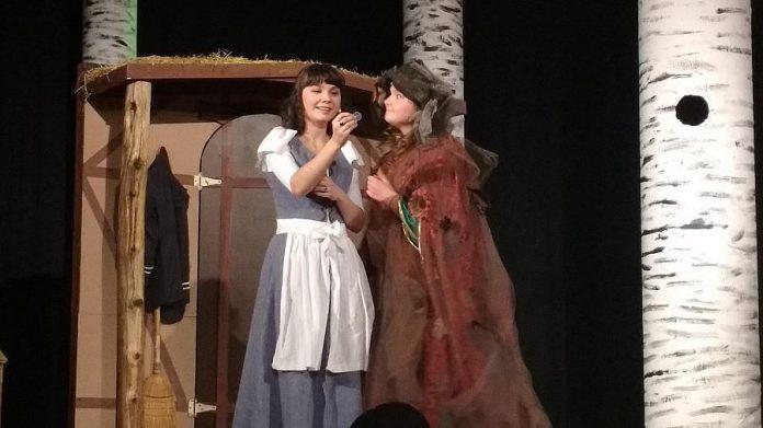 Grace De Mara as Cinderella and Kaia Douglas as Crazy Marie. (Photo: Sam Tweedle / kawarthaNOW.com)