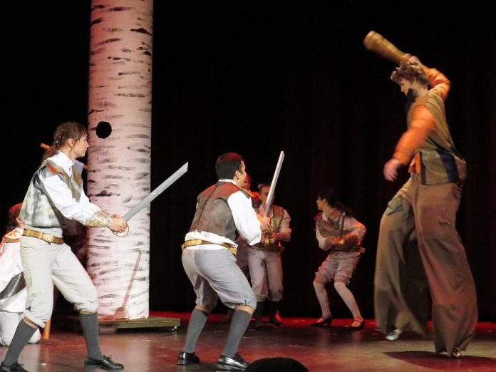 Prince Topher's men battle Noah Miller as The Giant. (Photo: Celia Fehr)