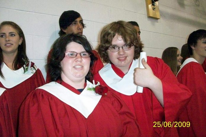 Terrence Bradley (right) graduating from Haliburton Highlands Secondary School in 2009. (Photo: Richard Bradley / Facebook)