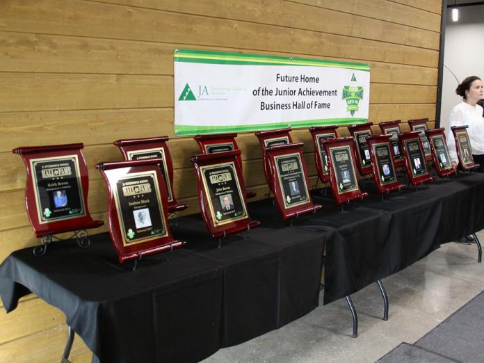 Plaques of this year's and previous years' inductees will be installed at the VentureNorth building in downtown Peterborough. (Photo: Jeannine Taylor / kawarthaNOW.com)