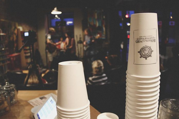 During Common Kindness Day on January 10, 2018, customers of Boiling Over's Coffee Vault in Lindsay paid forward a total of $337.72 for free coffees, and handed out roughly 140 free coffees. (Photo: Boiling Over's Coffee Vault)