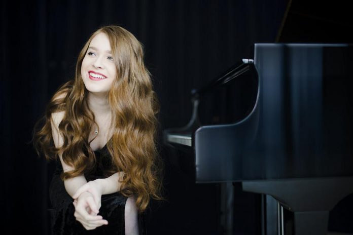 "Toronto pianist Anastasia Rizikov will join the Peterborough Symphony Orchestra to perform Gershwin's ""Rhapsody in Blue"" at Paris Bustle & Blue on Saturday, February 3rd at Showplace Performance Centre in downtown Peterborough. (Photo: Bo Huang)"