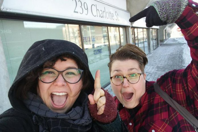 Stephanie Hayes and Jennifer Avis, owners of doula and prenatal education service Hello, Baby!, will be opening their new pregnancy and parenting hub in downtown Peterborough on March 2, 2018. (Photo: Hello, Baby!)