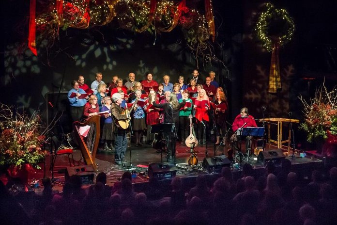 Including the 2017 concert proceeds and a donation from Wild Rock Outfitters, the annual In From The Cold Christmas concert has now raised over $126,000 for youth and families since 2000. (Photo: Linda McIlwain / kawarthaNOW.com)