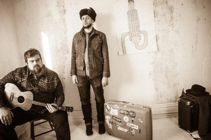 """Josh Fewings and Benj Rowland of Mayhemingways in a publicity photo for their new record """"Skip Land"""", which follows their critically acclaimed 2016 album """"Hunter St Blues"""". (Photo: Wayne Eardley)"""