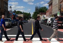 The Village of Millbrook in the Township of Cavan Monaghan revitalized its main street in 2016, including new crosswalks. Under Ontario's Main Street Revitalization Initiative, the township will be one of many municipalities in the Kawarthas to receive funding for similar improvements. (Photo: Nexicom / Facebook)