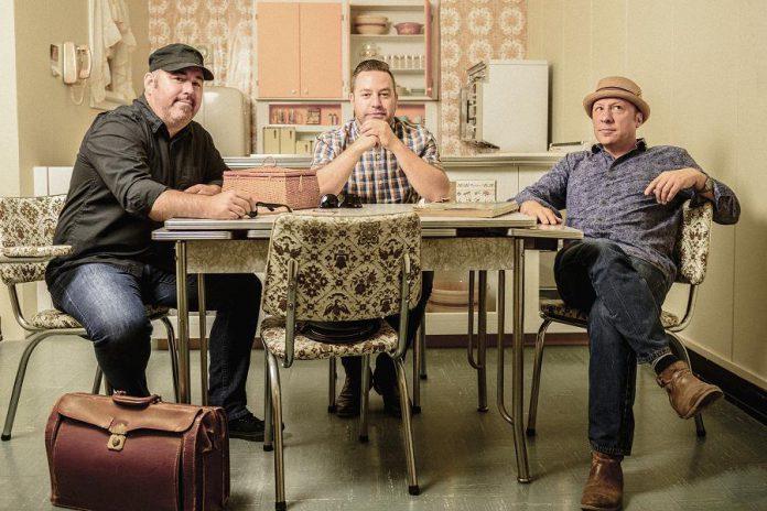 Matt Sobb, Steve Marriner, and Tony Diteodoro are MonkeyJunk. The award-winning Ottawa trio is performing at Peterborough's Market Hall on January 9, 2018. (Publicity photo)
