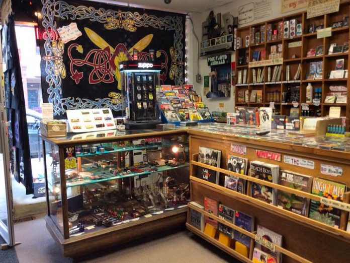 Moondance isn't just a record store: they also sell music-themed clothing and collectibles as well as smoking paraphernalia and accessories. They are also a cash-only ticket location for concerts at local venues, especially the Market Hall. (Photo courtesy of Moondance)