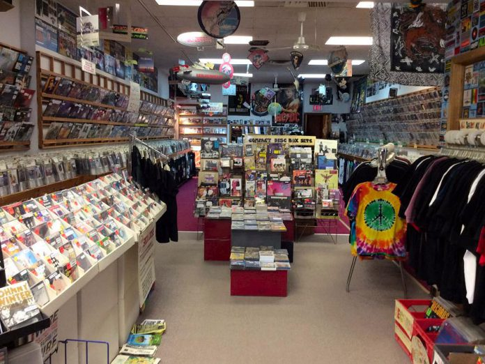 Mike Taveroff will begin selling off the store's inventory as of February 1st.  He will also sell some of his valuable music collectables, such as the Led Zeppelin balloon hanging from the ceiling. (Photo courtesy of Moondance)