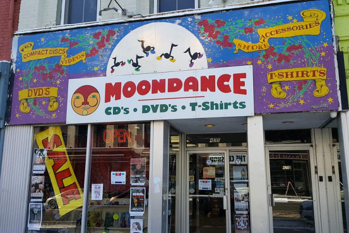 Mike Taveroff is closing his iconic Moondance store at 425 George Street North in downtown Peterborough after 46 years of operation. The store originally opened at 249 George Street in 1972 -- making it Canada's oldest independent music store. (Photo: Jeannine Taylor / kawarthaNOW.com)
