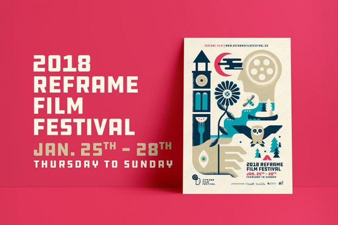Printed schedules of the 2018 ReFrame Film Festival are available at the GreenUP Store in Peterborough and Happenstance Books and Yarn in Lakefield, or visit reframefilmfestival.ca. (Graphic: ReFrame Film Festival)