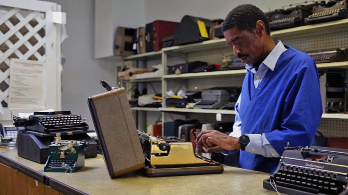 Ken Alexander of California Typewriter, one of the one of the last typewriter repair shops in America and the namesake for the documentary profiling artists, writers, and collectors who remain steadfastly loyal to the typewriter. (Photo: California Typewriter)