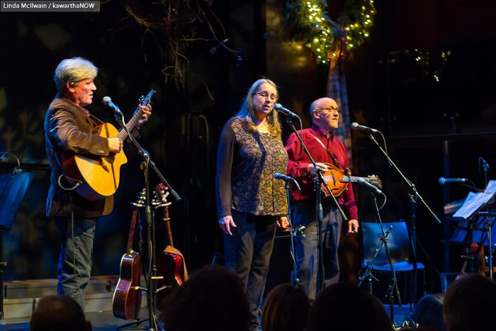 """In From The Cold"" explores how and why Rob Fortin, Susan Newman, John Hoffman, and Curtis Driedger (not pictured) launched the annual ""In From The Cold"" Christmas concert that has raised  $126,000 for the YES Shelter for Youth and Families since 2000. (Photo: Linda McIlwain / kawarthaNOW.com)"