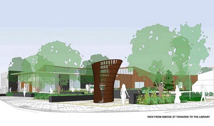 """Toronto architect Patrick Li's design for his """"Your Story"""" sculpture. The sculpture will be installed in the new public square adjacent the renovated Peterborough Public Library, with a scheduled completion date of August 2018. (Image: Patrick Li)"""