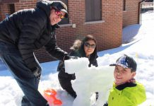 Last year's inaugural FrostFest saw large crowds attending, with families and businesses creating more than 50 snow sculptures. The event returns to the park at Lock 32 in Bobcaygeon from 10 a.m. to 3 p.m. on Sunday, February 18, 2018. (Photo courtesy of Impact 32)