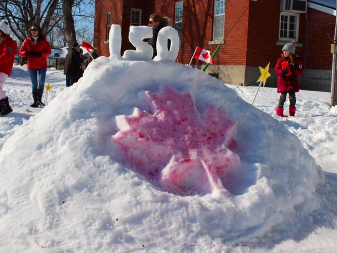 "At last year's FrostFest, New Deal Realty won in the Business category for their ""Canada's 150th"" snow sculpture. (Photo courtesy of Impact 32)"