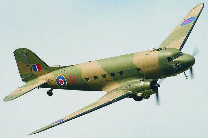 The Douglas C-47 Dakota was a military transport aircraft used extensively by the Allies during World War II. On September 24, 1944, Dakota KG653 was transporting 23 airmen, including Corporal William Howard Campbell of Peterborough, when it went off course and was shot down over Neuleiningen, Germany. Researcher Erik Wieman is trying to contact Campbell's descendants. (Supplied photo)