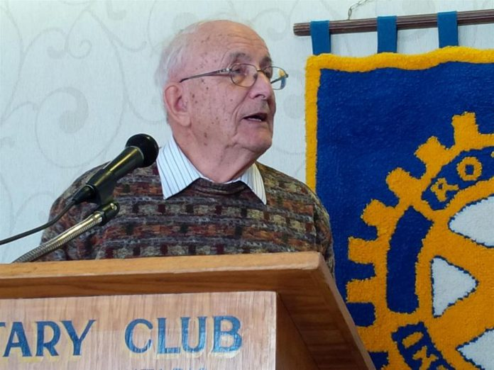 Robert Rehder, who spent 47 years as an engineer with GE in Peterborough, was also the director of the Hope Mill Restoration Project. He will be honoured with the Engineering Lifetime Achievement Award from the Professional Engineers Ontario (PEO) Peterborough Chapter. (Photo: Rotary Club of Belleville)