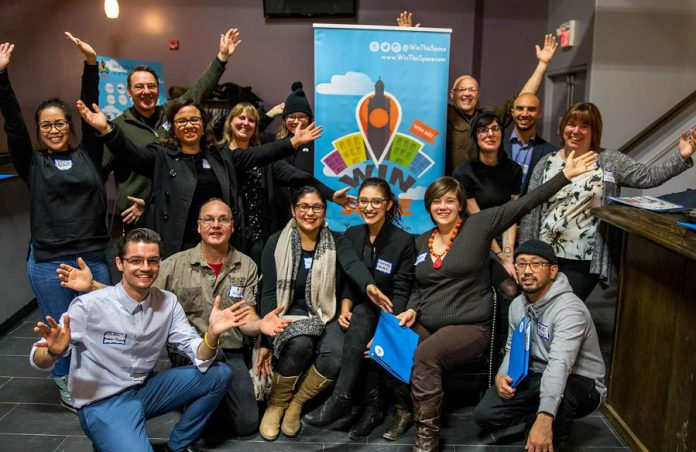 The 10 finalists in the 2018 Win This Space entrepreneurial competition. (Photo courtesy of Peterborough DBIA)