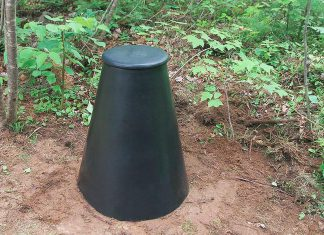 The Bardmatic Digester is a great waste management solution for households, designed to break down dog waste and organic kitchen waste including table scraps, citrus fruits, vegetable peelings, tealeaves, coffee grounds, and eggshells along with things that you can't put in a backyard composter, such as meat and bones. (Photo: Techstar Plastics Inc.)