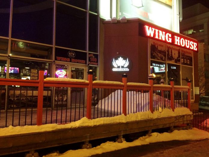 Wing House is open in the restaurant space by Galaxy Cinemas on Water Street in downtown Peterborough. (Photo: Eva Fisher / kawarthaNOW.com)