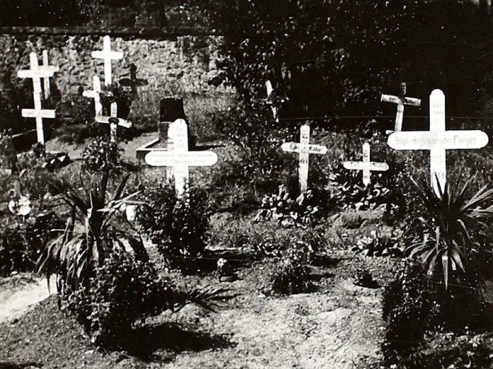 The remains of the airmen who died in the crash of Dakota KG653 were originally buried in a cemetery in Neuleiningen and later relocated to Rheinberg, Germany.  (Supplied photo)