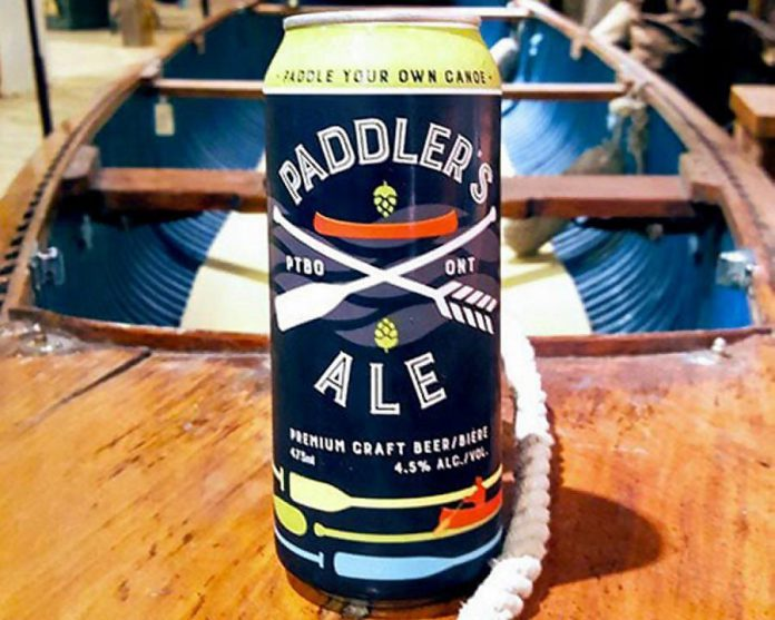 Publican House Brewery's Paddler's Ale, available at the brewery as well as Sobeys on both Towerhill Road and Lansdowne Street in Peterborough, and LaMantia's Grocery in Lindsay. (Photo courtesy Publican House Brewery)