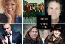 Measha Brueggergosman, The Sheepdogs, The Jim Cuddy Band, Pavlo, Alan Doyle, and Brett Kissel are only a few of the acts that Showplace Performance Centre has lined up from February to April 2018. (Graphic: Showplace Performance Centre)
