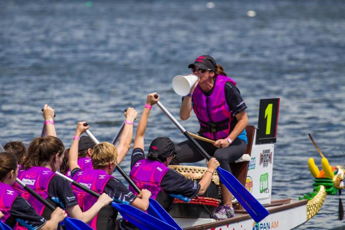 The 18th annual Peterborough's Dragon Boat Festival takes place on Saturday, June 9th at Del Crary Park in Peterborough. Registration is now open for the festival, which has new features for paddlers and visitors alike. (Photo: Peter Curley / Peterborough Clicks)