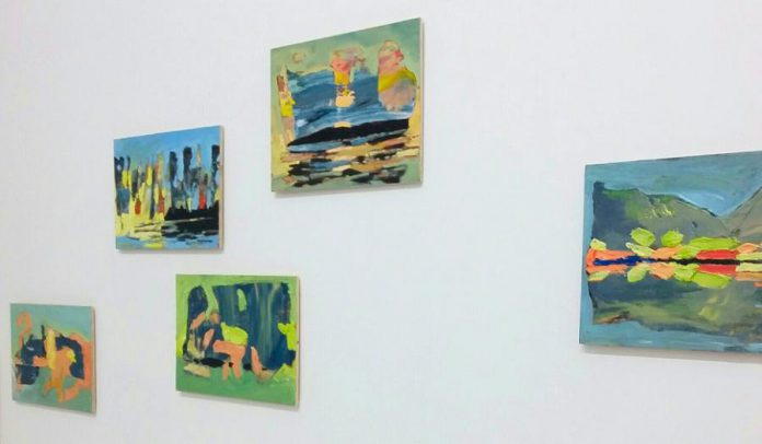 John Climenhage's colourful small landscape paintings, on display at Star X gallery. (Photo courtesy of Star X)