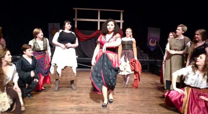 Naomi Woolf as the exotic and kind-hearted gypsy princess Esmerelda. (Photo: Sam Tweedle / kawarthaNOW.com)