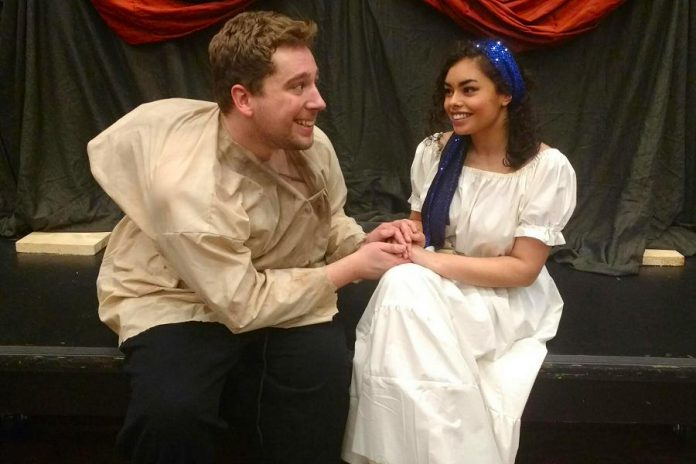 Brandon Remmelgas creates an endearing version of Quasimodo and Naomi Woolf is charming as Esmeralda. (Photo: Sam Tweedle / kawarthaNOW.com)
