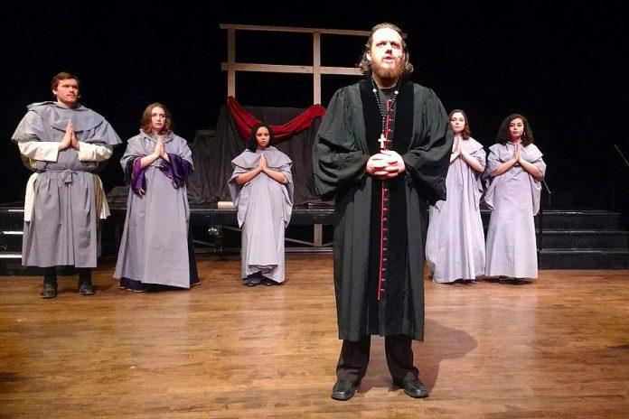 Rowan Lamoureux gives a masterful performance as the villainous Claude Frollo. (Photo: Sam Tweedle / kawarthaNOW.com)