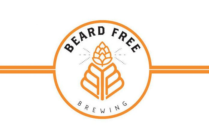 Beard Free Brewing is named both for part of the wheat plant and because two of the three partners do not wear beards, unlike many craft brewers. The third partner will be shaving his beard for the March 23rd opening. (Logo: Beard Free Brewing)