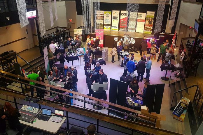 The  Bears' Lair Showcase event on  March 6, 2018 at The Venue in downtown Peterborough provided 20 semi-finalists with the opportunity to display their businesses to the public. (Photo: Bears' Lair)