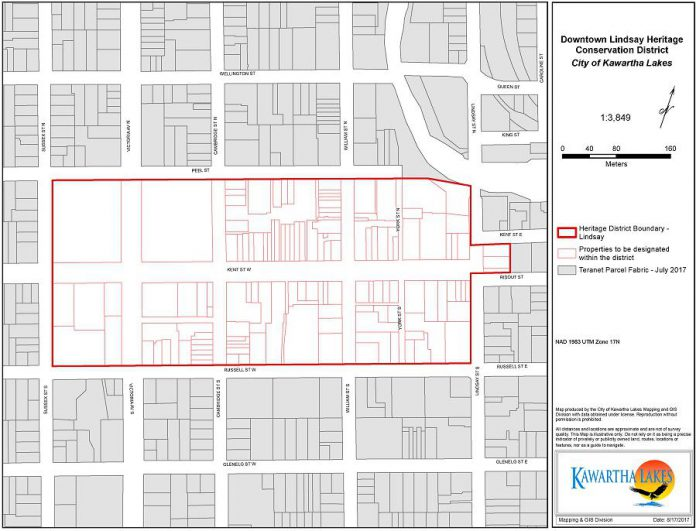 The Downtown Lindsay Heritage Conservation District. (Graphic: City of Kawartha Lakes)